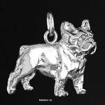 colgante de plata bulldog frances