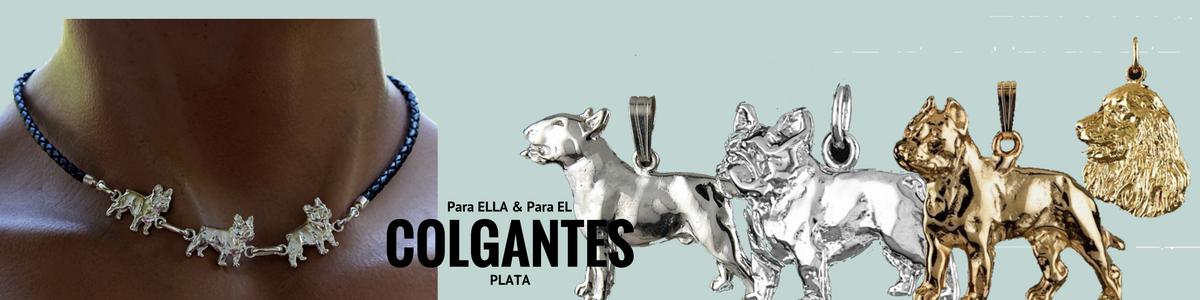 Colgantes de plata de ley razas de perros