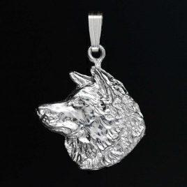 Colgante de plata Akita
