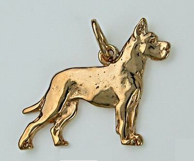 Colgante bañado en oro Dogo Aleman
