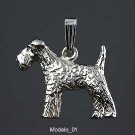 Colgante Fox Terrier 3D