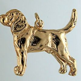 colgante Oro Beagle