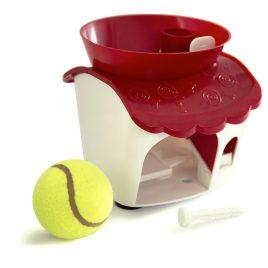 Dispensador de premios con pelota de tennis