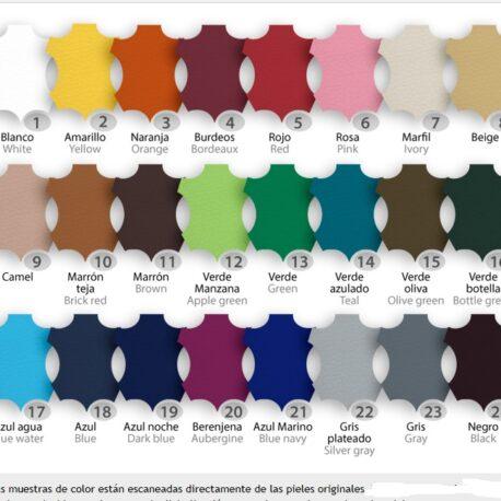 muestrario colores