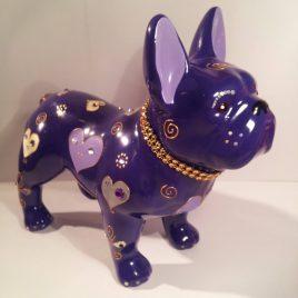 Escultura Bulldog Frances Valentin
