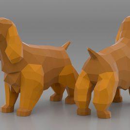 Plantilla 3D Coocker Spaniels