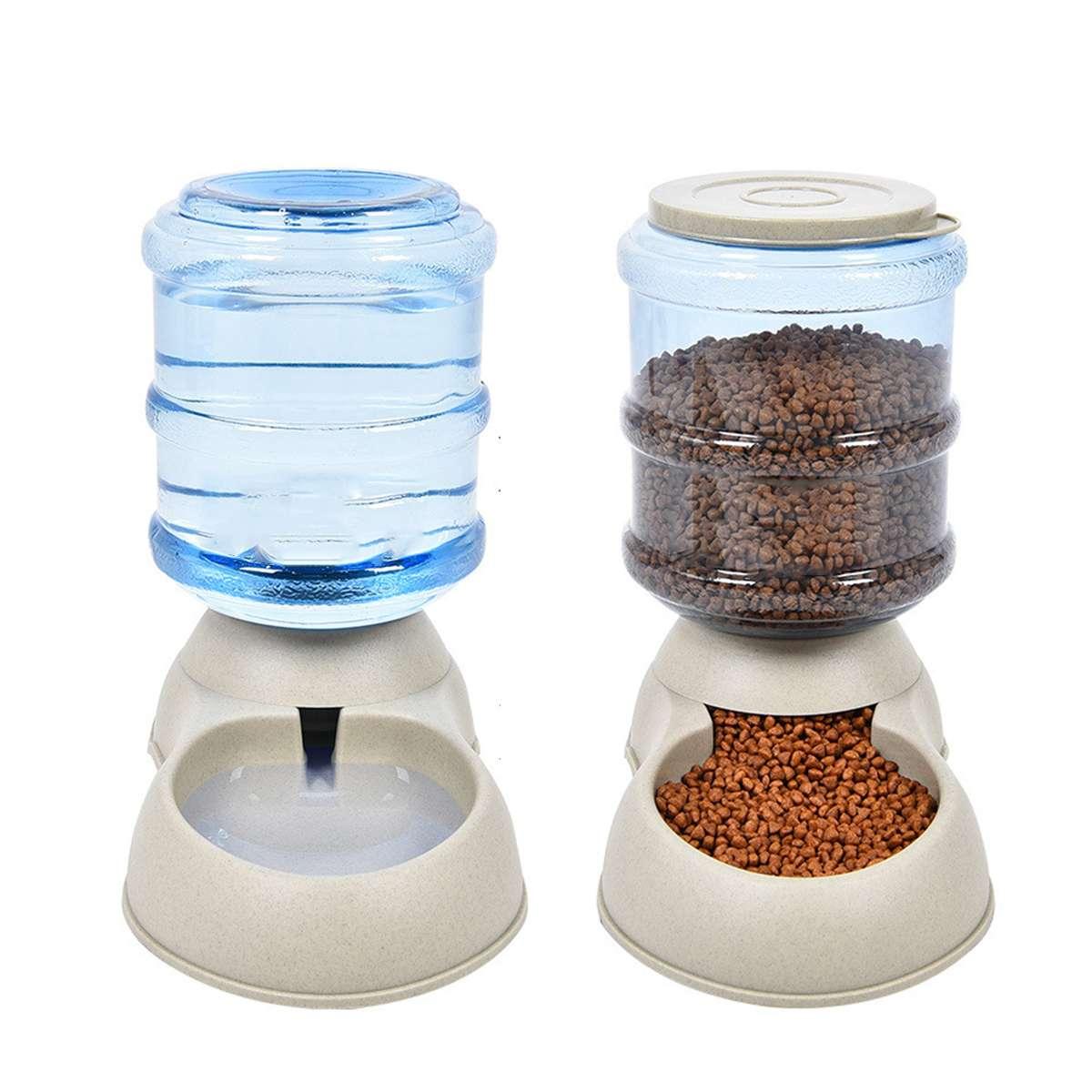 Bebedor y alimentador automático grande para perros y gatos de 3,75 L, dispensador de agua para alimentos, plato para mascotas