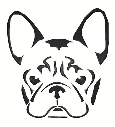 French Bulldog Stencil