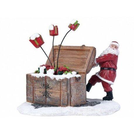 figura de sata claus con regalos